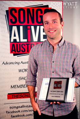 Songsalive! Australia's The Song Comp Songwriter Of The Year Luke Robinson